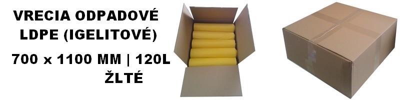 Vrecia odpadové LDPE žlté