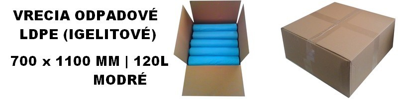 Vrecia odpadové LDPE modré