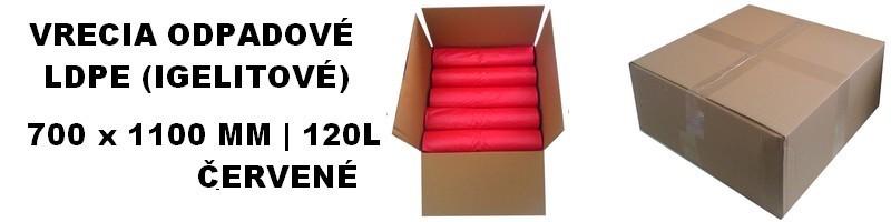 Vrecia odpadové LDPE červené